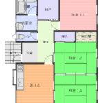 籠原南2丁目3DK+3LDK 土地82.2坪 中古戸建
